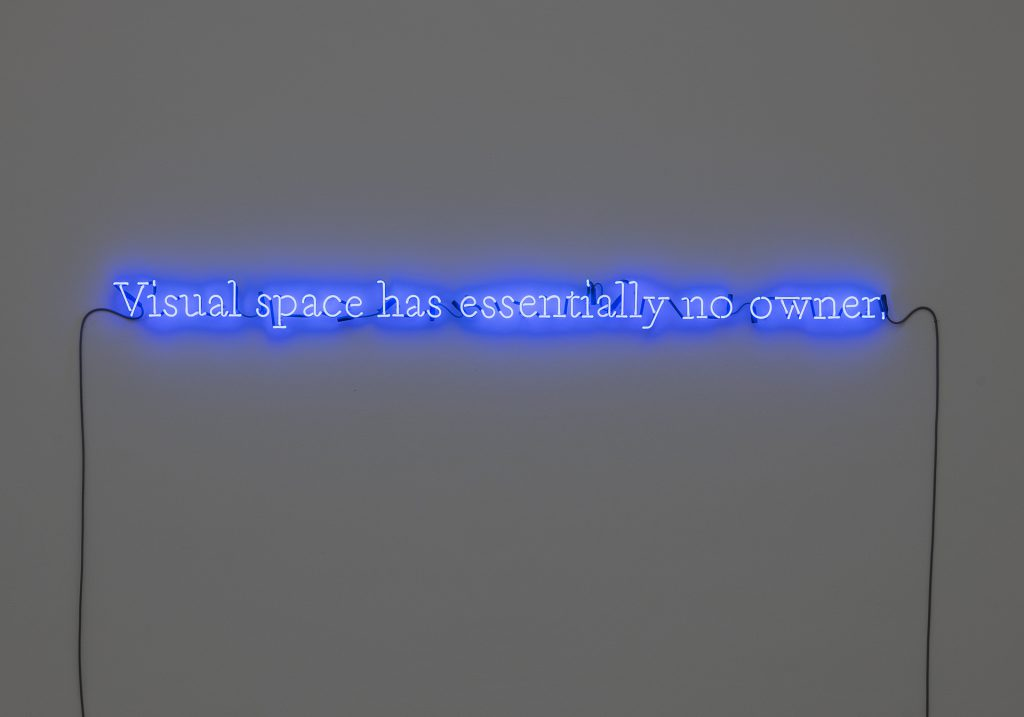 Joseph Kosuth, Visual space has essentially no owner, 1990, Foto: Frank Kleinbach, © VG Bild-Kunst, Bonn 2020